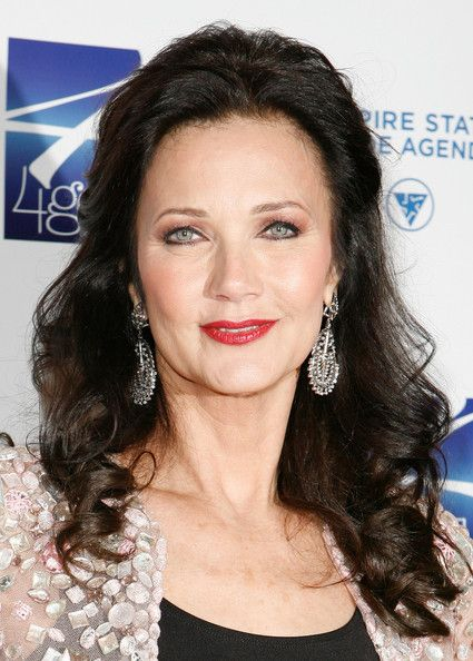 Lynda Carter's Half-Up Hairstyle - Haute Hairstyles for Women Over 50 - StyleBistro