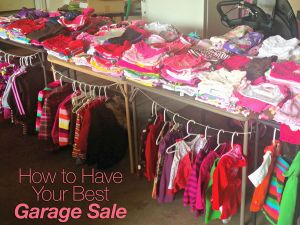 10 Tips for a Successful Garage Sale --- A MUST-READ for those who put together a garage sale.    Very helpful advice!