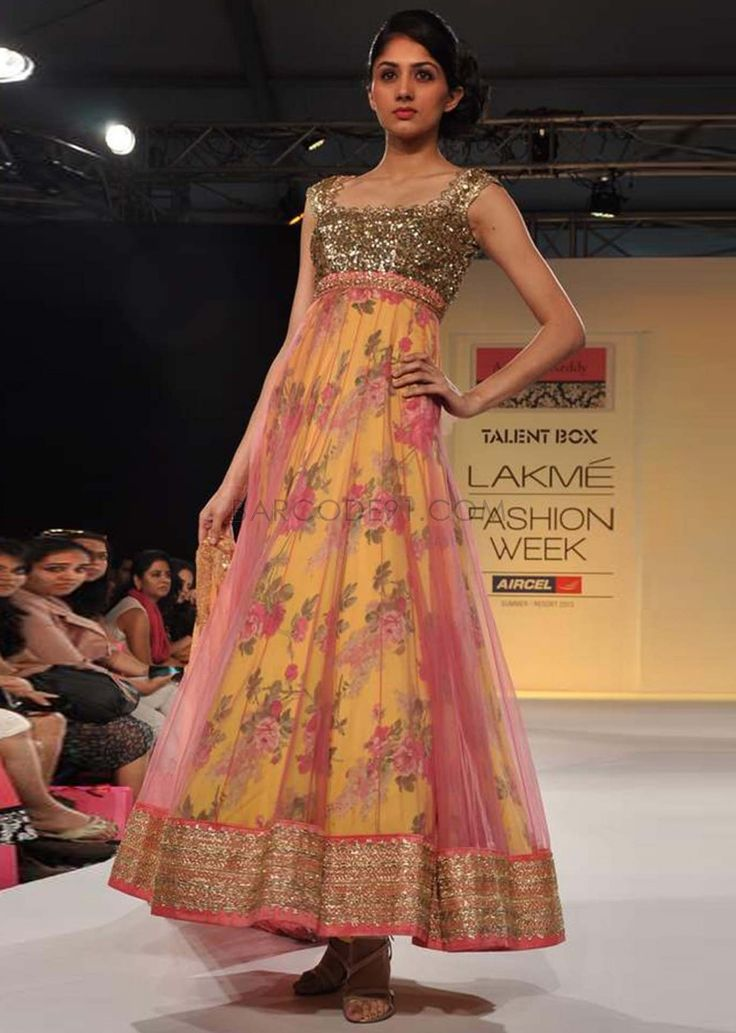 Lakme Fashion Week 2013 Collection by Anushree Reddy. Love the floral underneath!