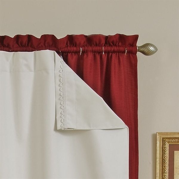 How To Hang Curtains Without Making Holes In The Wall Make Insulated Curtains