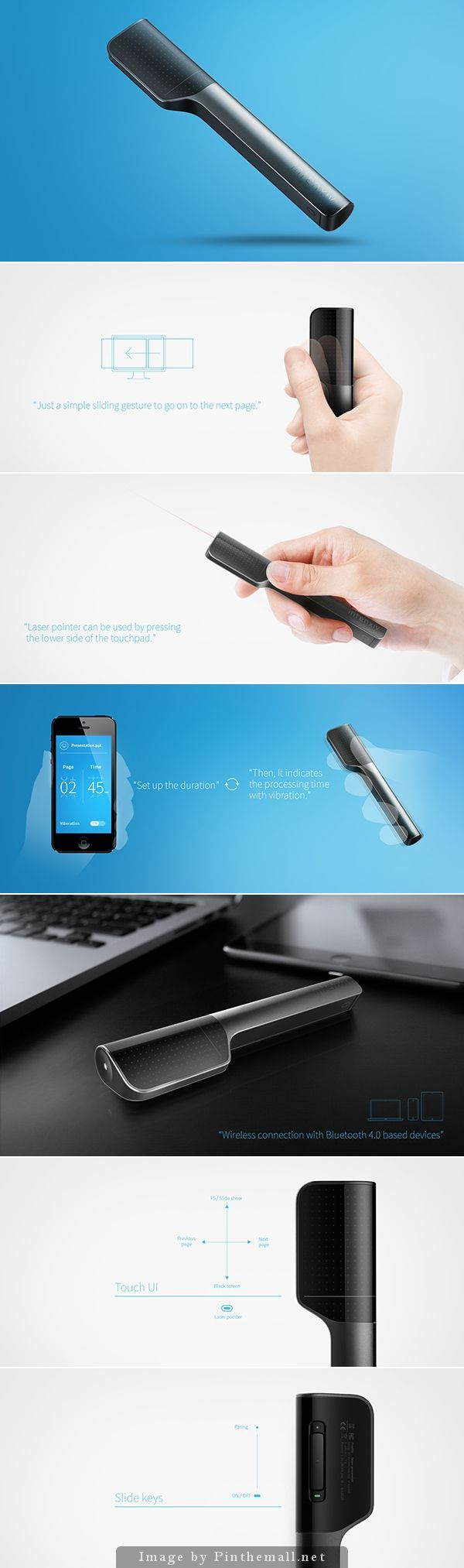 I MUST HAVE IT: Bluetooth presenter - by intenxiv Inc. | A Bluetooth based device to manage presentation conveniently and effectively.