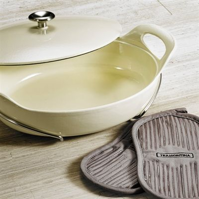 TRAMONTINA 80131/089DS Series 1200 3.5-qt Covered Oval Braiser
