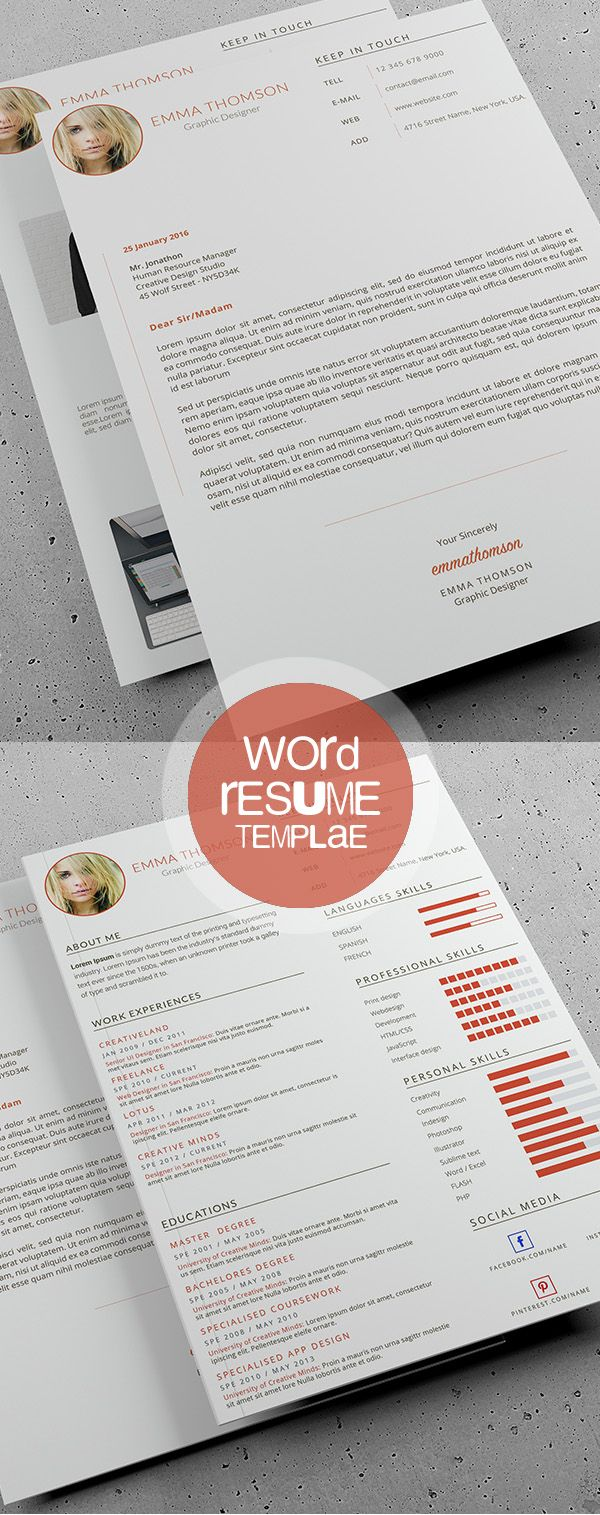 Beautiful Word Resume Template 391 best