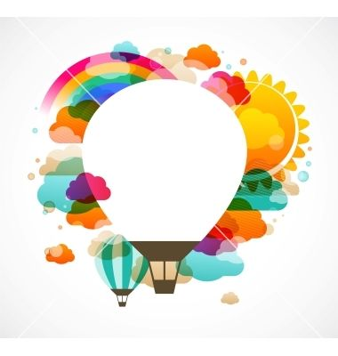 Hot air balloon colorful abstract background vector 1214128 - by ma_rish on VectorStock®