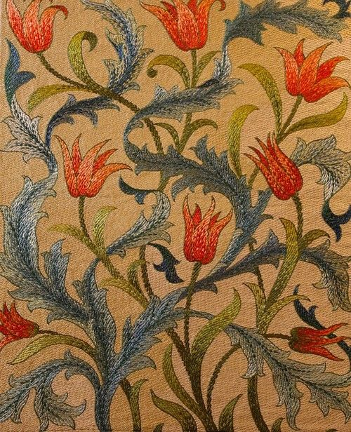 I like this color combination - Windy Poplars Room, wasbella102: by May Morris 1890s