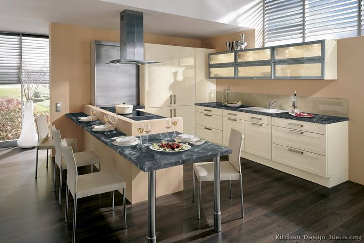 Kitchen of the Day A modern kitchen with cream cabinets, gray - esszimmer 6 st amp uuml hlen