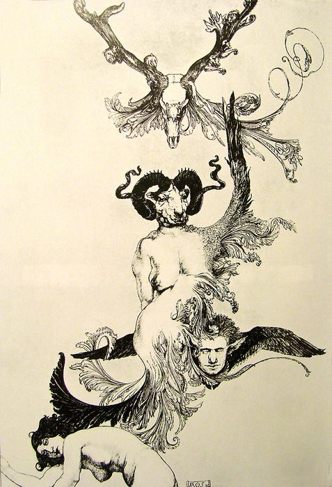 """Ascension of the Ego from Ecstasy to Ecstasy"""", an image taken from The Book of Pleasure (1913) by Austin Osman Spare."""