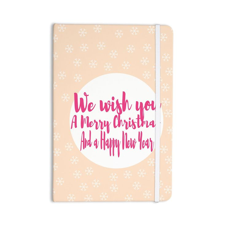 """Suzanne Carter """"Merry Chistmas & Happy New Year"""" Peach Pink Everything Notebook"""