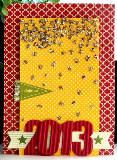 Celebrate 2013 Card by Emily Pitts via Jillibean Soup Blog