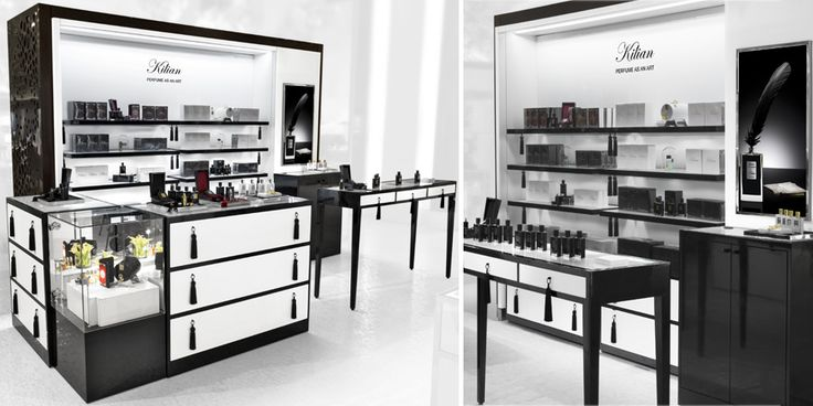 """Killian at Saks -  RPG collaborated with by Kilian to build shops in Saks that capture Kilian's spirit and philosophy of """"perfume as an art…, a messenger that opens a thousand doors in the memory."""""""
