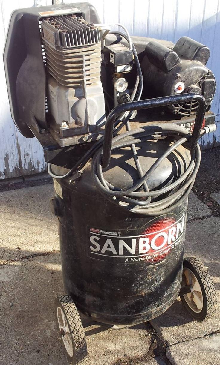 Coleman Sanborn 27 gallon 5 hp Air Compressor, Belt drive