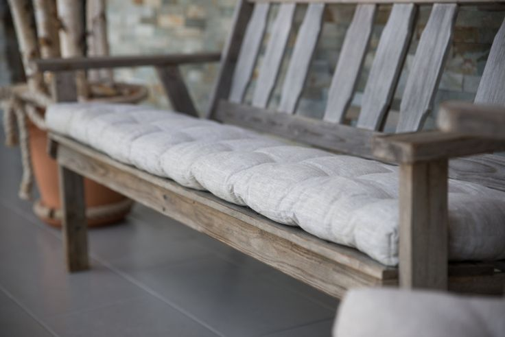It is in human's nature that we always wish to improve our home space so that we feel better in it.  Handmade bench cushion will give a new look and enhanced the comfort of furniture or living space. It will energize and refresh the garden, balcony, indoor furniture and provide it with a mint look.  A bench cushion can also be done according to the customers needs and desires.  The pillow is handmade from natural materials and organic proceed sheep wool.  Pillow size: 37x158 cm…