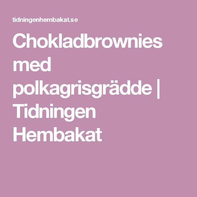 Chokladbrownies med polkagrisgrädde | Tidningen Hembakat