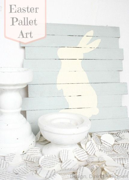 CA-UTE!  A Mini-Pallet Sign For Easter by Design, Dining + Diapers