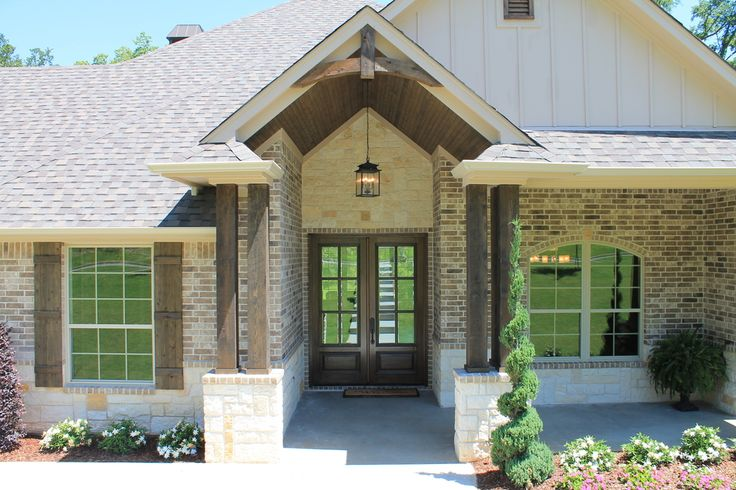 Brick Amp Siding Front Elevation Home Ideas Pinterest