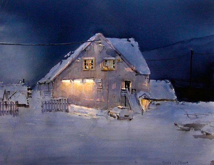 Torgeir Schjølberg (Norway) Lys i mørke 70 x 90 cm