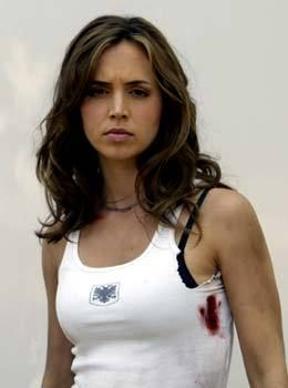 Who I'm starting to picture as Lori Wright (really Eliza Dushku)