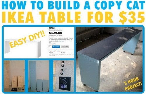 How To Build A Copy Of An Ikea MALM Occasional Table For $35 | RemoveandReplace.com