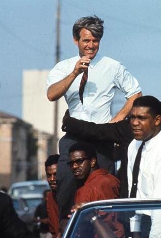 Here Robert Kennedy in Watts, Los Angeles, 45 years ago today, last campaign day before California primary 1968