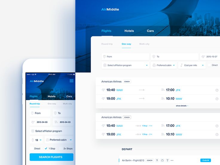 Flight search engine by Mik Skuza #Design Popular #Dribbble #shots