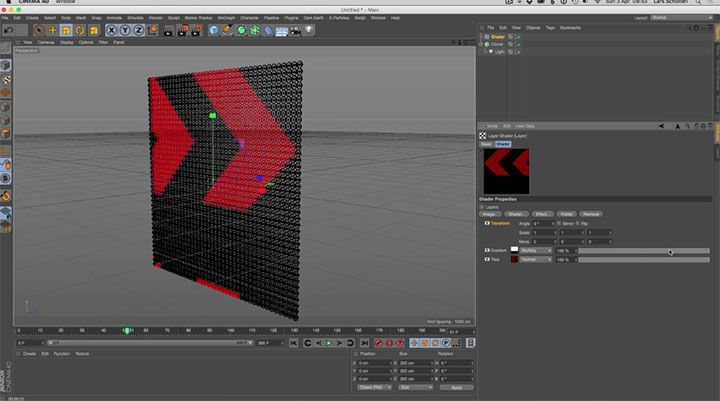 Creating an LED Board Using The Shader Effector in Cinema 4D