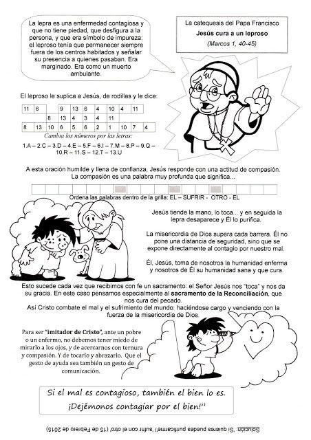 El Rincón de las Melli: LA CATEQUESIS DEL PAPA FRANCISCO: Jesús cura a un ...
