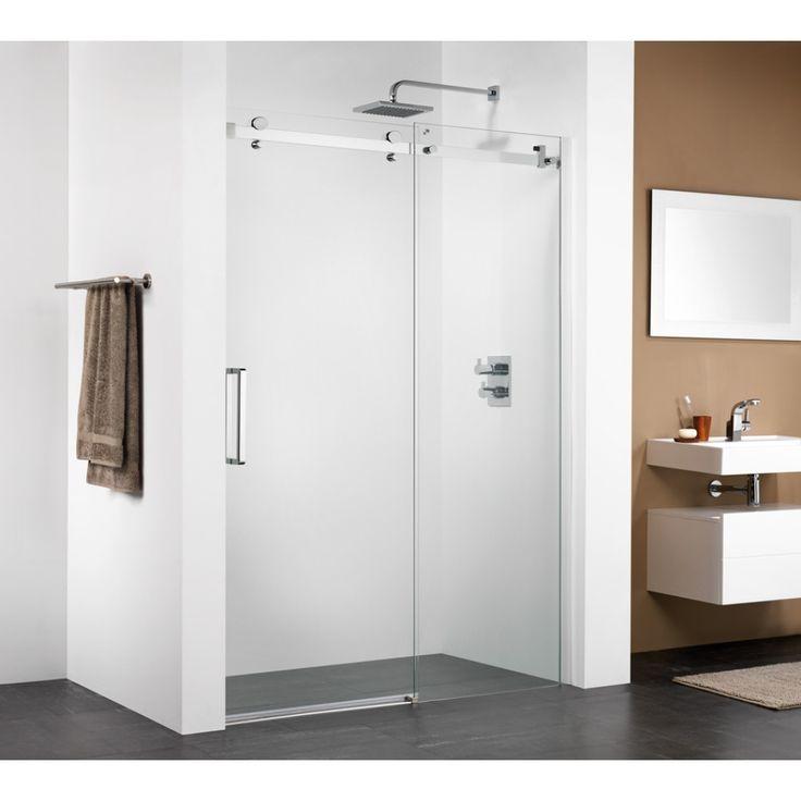 Sealskin Get Wet C350 schuifdeur 120x206cm zilver hoogglans profiel en helder glas - CJ121206260100 - Sanitairwinkel.nl