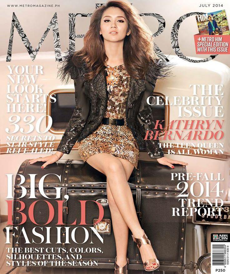 Kathryn Bernardo for M E T R O Magazine July 2014 issue ...