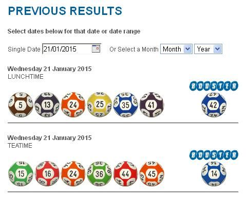 January 22 2015 irish lottery results