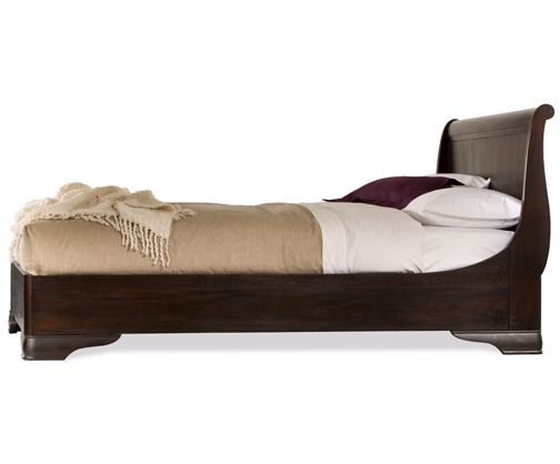 Fairnoble Antique Mahogany Sleigh Bed- Side View