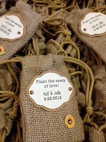 Measure Once, Cut Twice: Sunflower Themed Wedding Favors