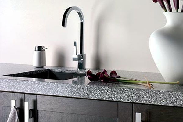 The core additive is engineered to be combined with some extra additives to produce Diresco worktops. The advantage of this material, over any other is the fact, as is man made the colour is laboratory produced so you are ensured of colour exactness regardless of how many singular worktops will be needed to complete your refurbishment works.
