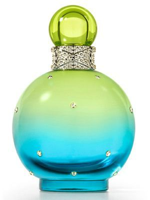 Perfume Bottle ~ Aqua and Green
