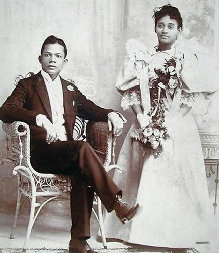 African American Bride & Groom by Black History Album, via Flickr