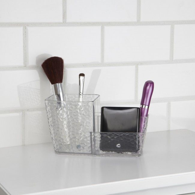 Keep your countertop tidy with an InterDesign Rain Vanity Brush Caddy