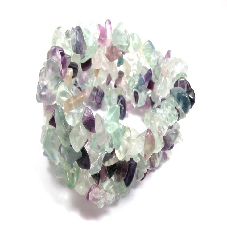 Colourfull fluorite gemstone bracelet