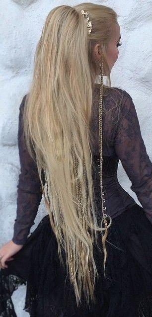 Beautiful Ponytail With Small Viking Braids