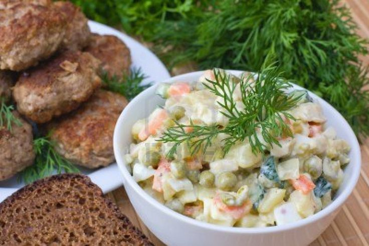 Oliveier Salad or Russian Salad http://www.enjoyyourcooking.com/salads/russian-salad-olivier.html