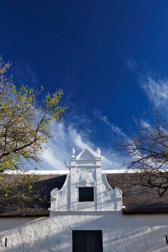 Cape Dutch gable at Babylonstoren, Western Cape, South Africa