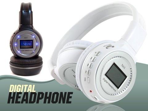 Kablosuz MP3 Player Kulaklık + FM Radyolu + Şarjlı 46,90 TL