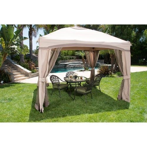 Portable 10x10 Gazebo Canopy Tent Screened Garden Patio Umbrella Frame With  Net