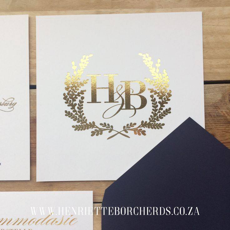 Gold foil & Navy. Wedding design. @h_borcherds.