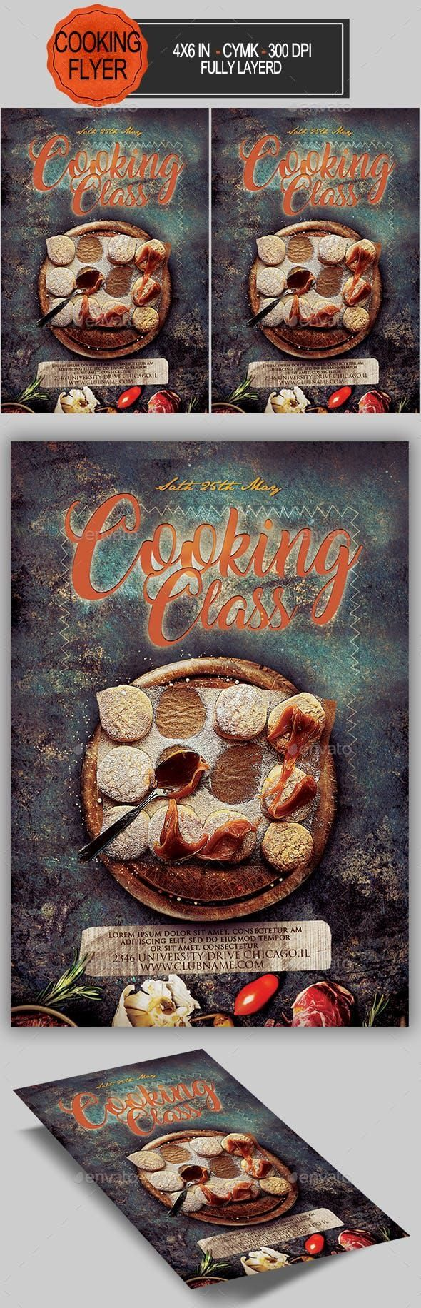 Cooking Classes Flyer Restaurant Flyer Food Infographic Flyer