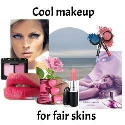 Makeup specifically for a fair Cool skin tone  #color analysis  #cool skin