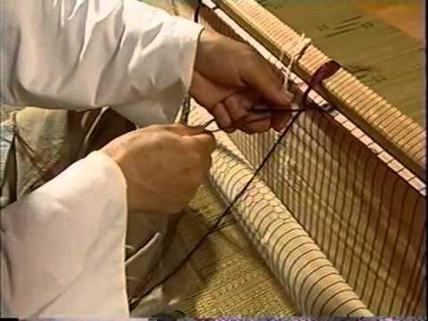 Korean Bamboo Blind artisan Cho Dae Yong 4