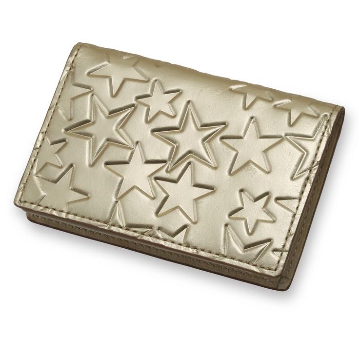 Coquette/カードケース エトワール シャンパンゴールド 15750yen 華やかな星柄が女性の心を躍らせるカードケース