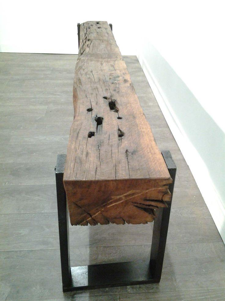 RECLAIMED WOOD...IKEA LEGS...EASY PEASY DIY...