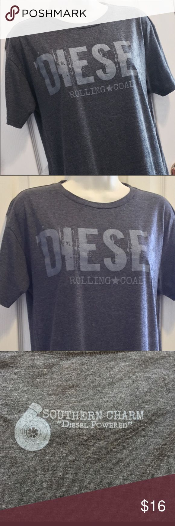 Southern Charm Diesel Tee size Medium Southern Charm Diesel Tee size Medium. Excellent condition only worn once. Bought at the Souther Charm store in Cherokee North Carolina. Southern Charm Tops Tees - Short Sleeve
