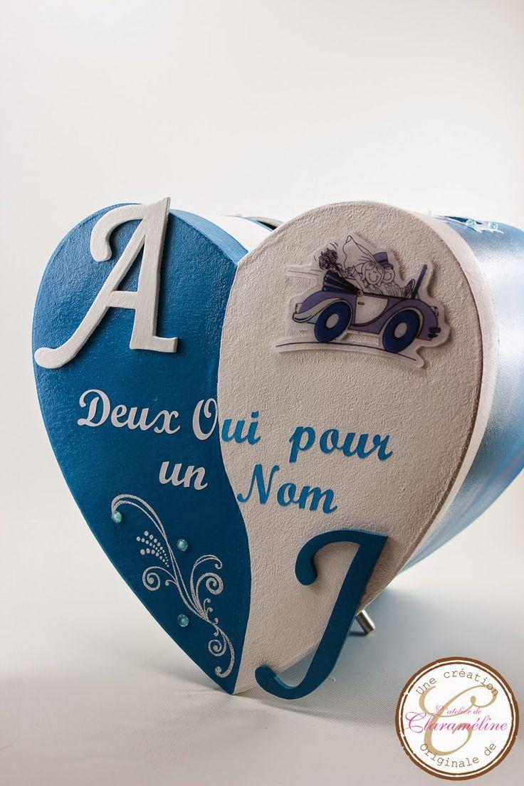 L'atelier de Claraméline: Ensemble urne, livre d'or, coussin d'alliances bleu turquoise et blanc