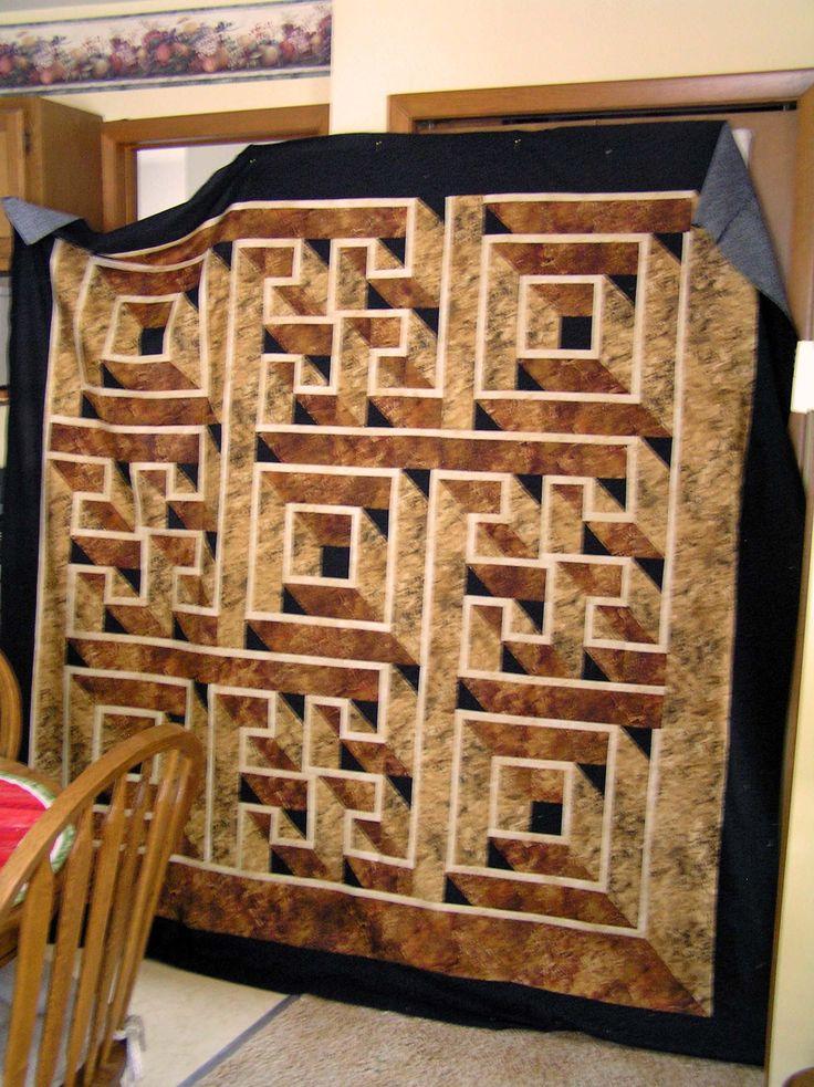 43 best Labyrinth Walk quilt colorways images on Pinterest | Walks ... : labyrinth quilt pattern free - Adamdwight.com